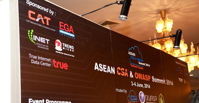 "CAT cyfence ร่วมงาน ""ASEAN CSA & OWASP Summit 2014"""