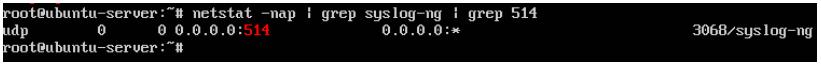 รูปภาพการตรวจสอบ syslog-ng service