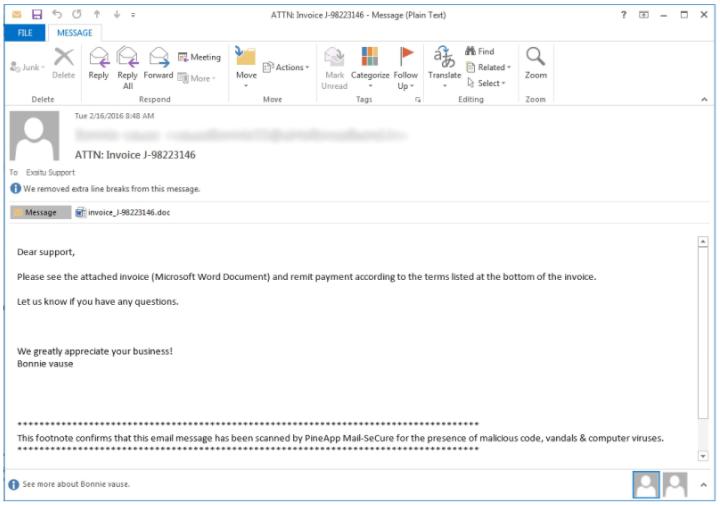 ตัวอย่าง Mail Phishing