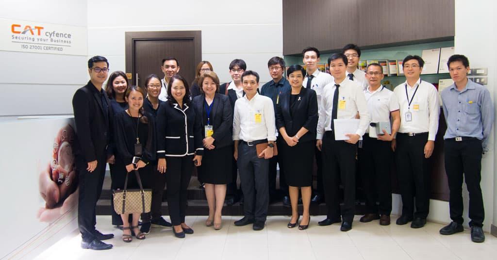ธนาคารแห่งประเทศไทย เยี่ยมชมและศึกษาดูงาน ศูนย์ปฏิบัติการ SOC