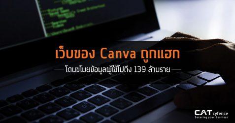 เว็บของ Canva ถูกแฮก โดนขโมยข้อมูลผู้ใช้ไปถึง 139 ล้านราย