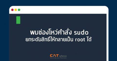 พบช่องโหว่คำสั่ง sudo ยกระดับสิทธิ์ให้กลายเป็น root ได้