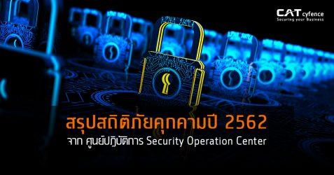 สรุปสถิติภัยคุกคามประจำปี 2562 จาก ศูนย์ปฏิบัติการ Security Operation Center