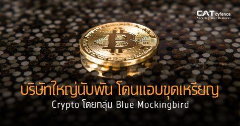 บริษัทใหญ่นับพัน โดนแอบขุดเหรียญ Crypto โดยกลุ่ม Blue Mockingbird