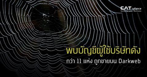 พบบัญชีผู้ใช้บริษัทดัง กว่า 11 แห่ง ถูกขายบน Darkweb