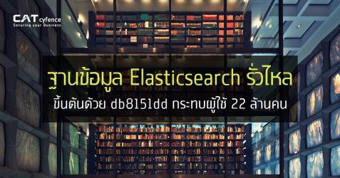 ฐานข้อมูล Elasticsearch รั่วไหล ขึ้นต้นด้วย db8151dd กระทบผู้ใช้ 22 ล้านคน