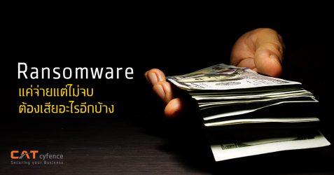 ทำไม Ransomware แค่จ่ายแต่ไม่จบ ต้องเสียอะไรอีกบ้าง